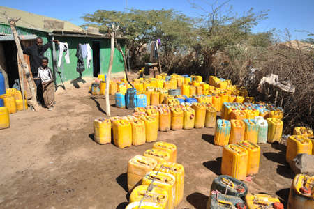 Point of delivery of water in an African refugee camp