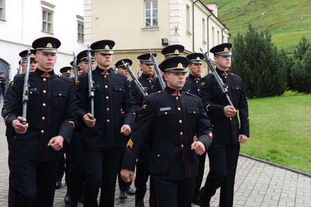 lithuanian: The swearing-in of the Lithuanian military Academy  Editorial