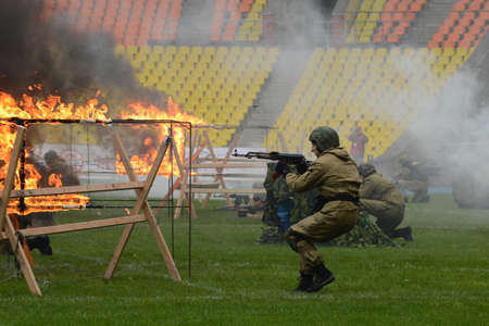 anti terrorist: Special forces demonstrate training