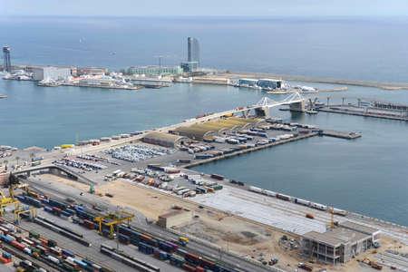 shipped: Port de Barcelona Stock Photo
