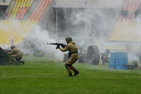 anti terrorist: Special forces demonstrate training. Editorial