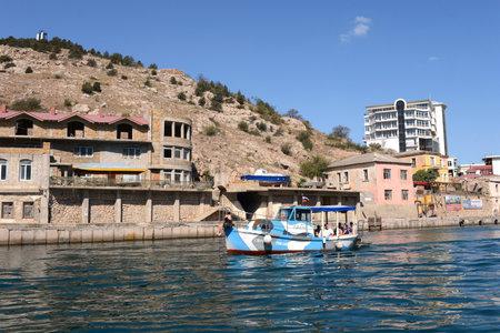 black moor: Boat in the Balaklava Bay of Sevastopol
