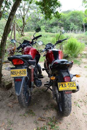 meta: Motorcycles on the streets of La Macarena.