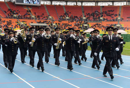 epaulettes: A police brass orchestra in Moscow