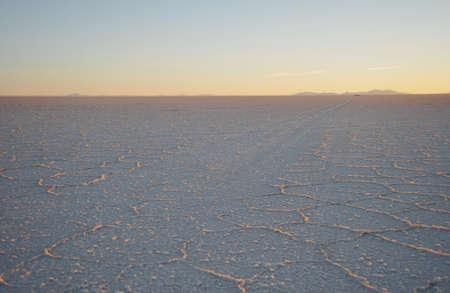 uyuni: The Uyuni salt flats Stock Photo