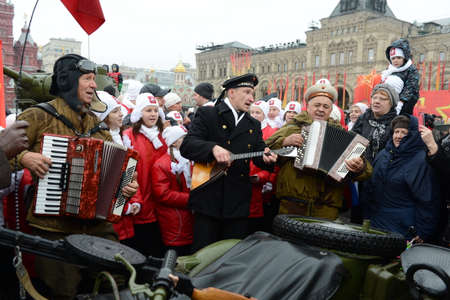 festivities: Festivities on November 7 at the red square in Moscow.