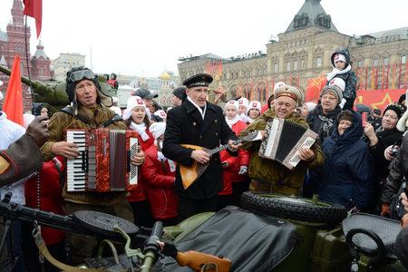 festividades: Fiestas del 7 de noviembre en la Plaza Roja en Mosc�.