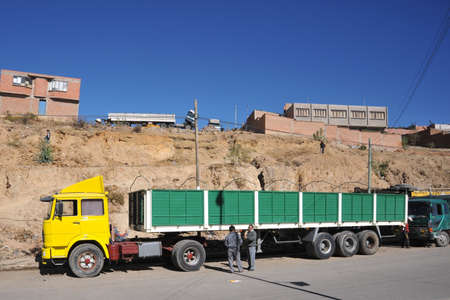 outskirts: The industrial outskirts of Sucre.