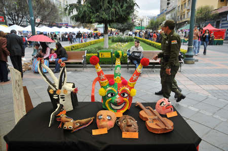 sculpted: Sculpted masks on the streets of La Paz