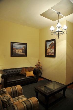 El interior del hotel en La Paz