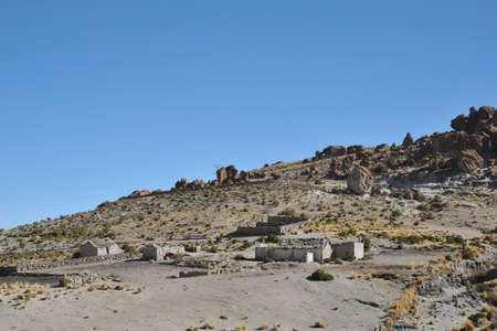 bolivian: Mountain Bolivian villages in the Altiplano