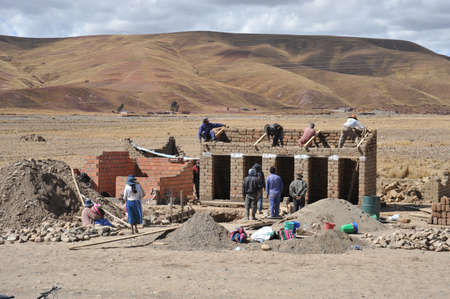 residents: Residents of the Bolivian mountain villages in the Altiplano. Editorial