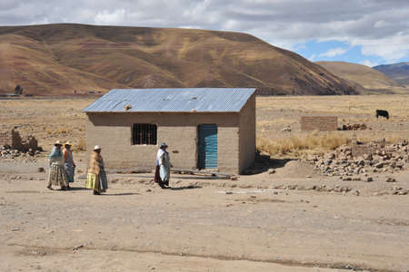 residents: Residents of the Bolivian mountain villages in the Altiplano Editorial