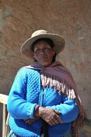 unidentified: Mujer boliviana no identificado con valles Altiplano