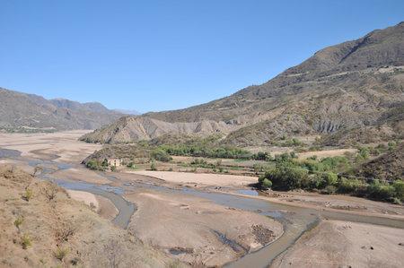 altiplano: Mountain river in the Altiplano