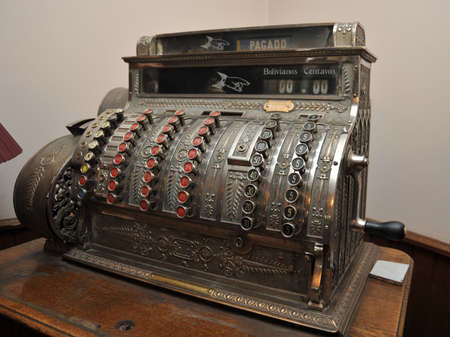 cash register building: An old cash register in Potosi Editorial