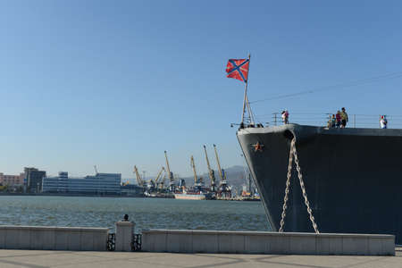 cruiser: The cruiser Mikhail Kutuzov at the dock in Novorossiysk Editorial