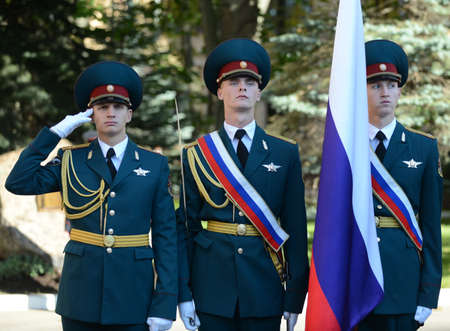 The standard group of the honor guard, internal troops of the MIA of Russia.Special military formations are designed to ensure the internal security of the state. Editorial