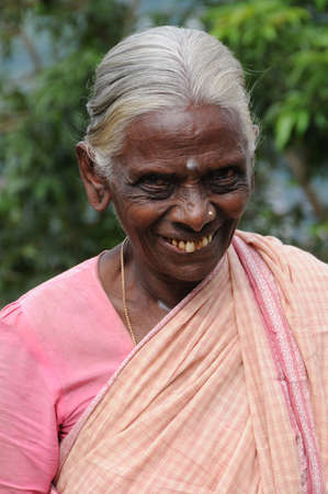 kandy: Unknown elderly woman from Kandy Editorial