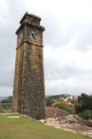 galle: City clock tower in the town of Galle Editorial