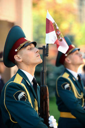 honour: The honour guard of interior Ministry troops of Russia.