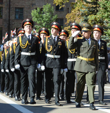 upbringing: The students of the Moscow cadet corps of the police Editorial