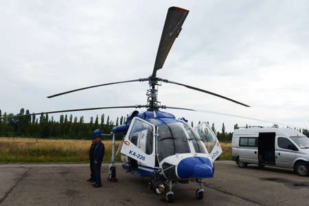 azucar: Police helicopter KA-226 at the airport