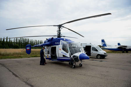 Police helicopter KA-226 at the airport