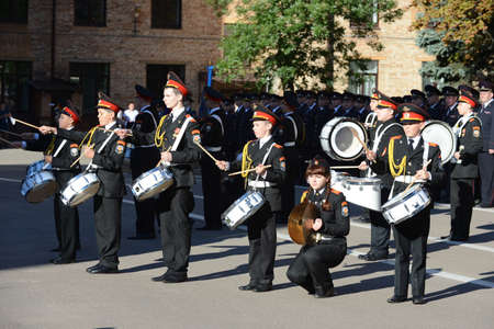 upbringing: The students of the Moscow cadet corps of the police.