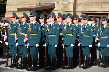 honour: The honour guard of interior Ministry troops of Russia