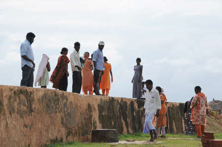 galle: Locals walking in the fortress city of Galle.