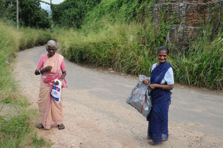 kandy: Unknown elderly womans from Kandy. Editorial
