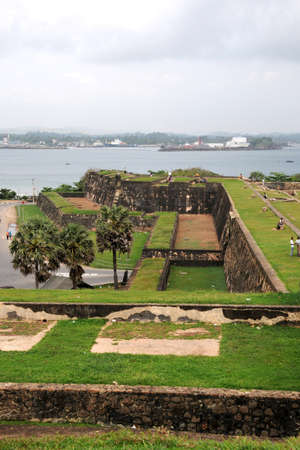 southern indian: View of the architecture of the Fort Galle. Editorial