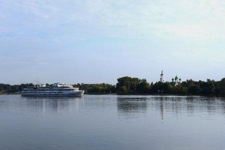volga: Ship sailing along the Volga.