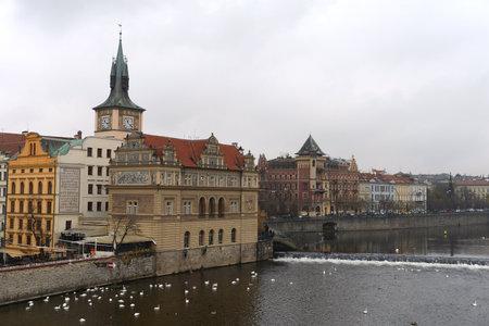 vltava: Prague. Vltava River. Editorial