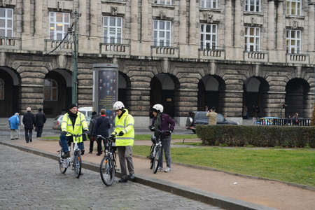 praga: The cyclists on the streets of Prague