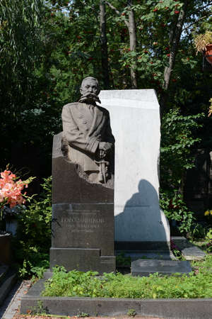 colonel: The monument to Colonel General OI Gorodovikov at Novodevichy cemetery