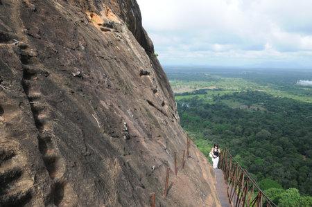 sigiriya: Ruins of fortress on top of Sigiriya Lion Rock, Sri Lanka