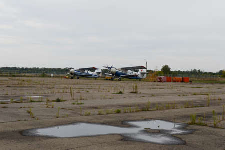 voronezh: An-2 aircraft for the air ambulance at the airport of Voronezh. Editorial