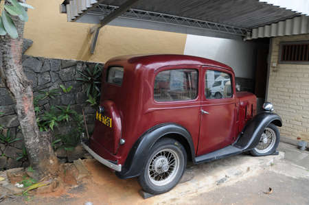 kandy: Vintage car in Kandy. Editorial