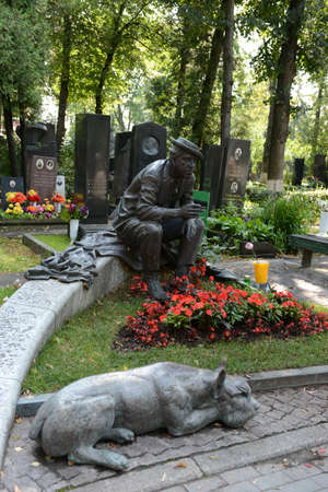yuri: The grave of actor Yuri Nikulin at the Novodevichy cemetery in Moscow
