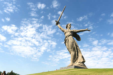 major battle: The monument the Motherland calls in Volgograd Editorial