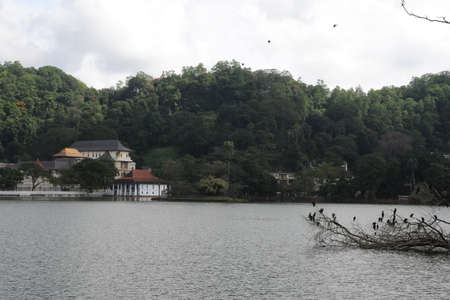 kandy: View of lake in Kandy.