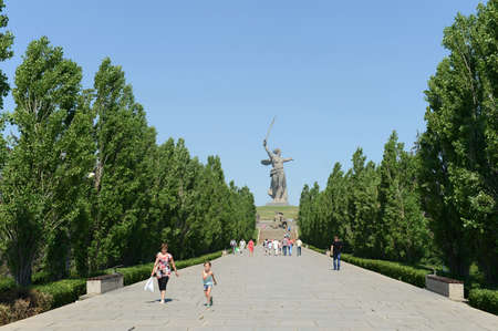 ensemble: The Monument - ensemble to Heroes of Stalingrad battle in Volgograd. Editorial
