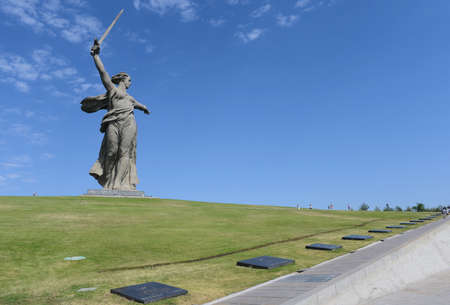 major battle: The monument the Motherland calls in Volgograd. Editorial