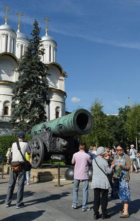 bombard: The Tsar cannon - a medieval artillery piece, a monument of Russian artillery