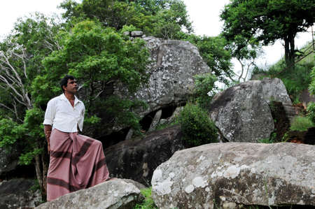 sigiriya: Lankies on the ruins of the Sigiriya fortress.