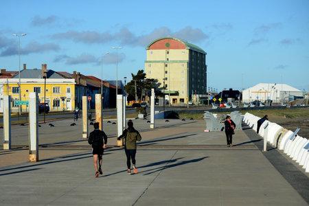strait of magellan: Quay in the Chilean city of Punta arenas. The Strait of Magellan Editorial