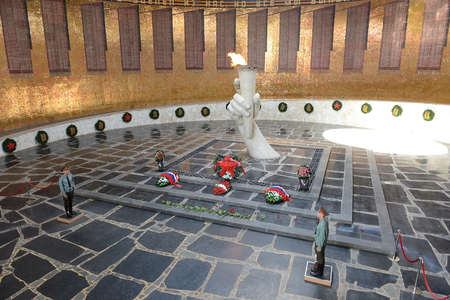major battle: Mamaev Kurgan. The eternal flame in the hall of Military Glory. Editorial