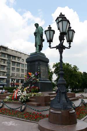 poet: The monument to poet Alexander Pushkin in Moscow.